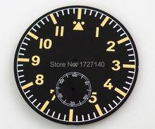 47.5mm sterile Dial fit Unitas ETA 6498 Pilot parnis Watch Luminous number 9