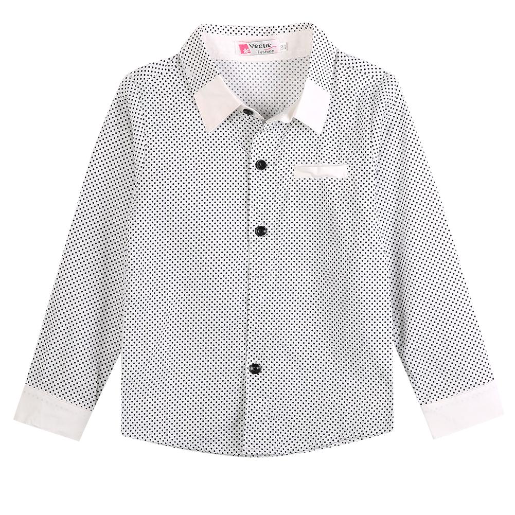 Fashion font b Boys b font Formal Plain Long Sleeved Shirt Baby font b boy b
