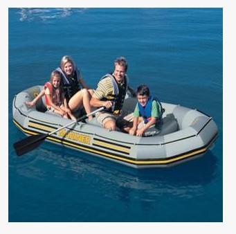 Intex68376 wear resistant laminated ship thick plywood 4 for 3 person fishing boat