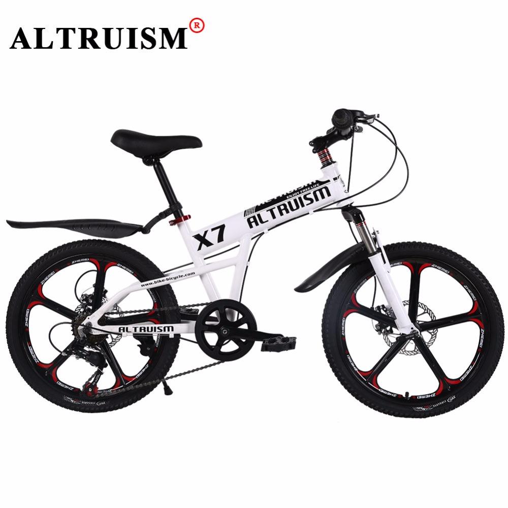 ALTRUISM X7 Mountain Bike 20 Inch 7 Speed Bisiklet Aluminum Bicycle Children's Bike Velo Double Disc Brake Bikes Road Bicicleta(China (Mainland))