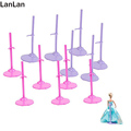 12pcs Toy Stand Model Support Frame Prop Up For Barbie Dolls Pink Purple Doll Accessories Support