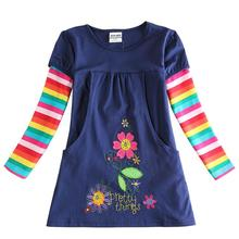 birthday dresses baby girls kids wear children casual princess winter spring party evening flowers clothes long sleeve - YOUR CHILDHOOD store