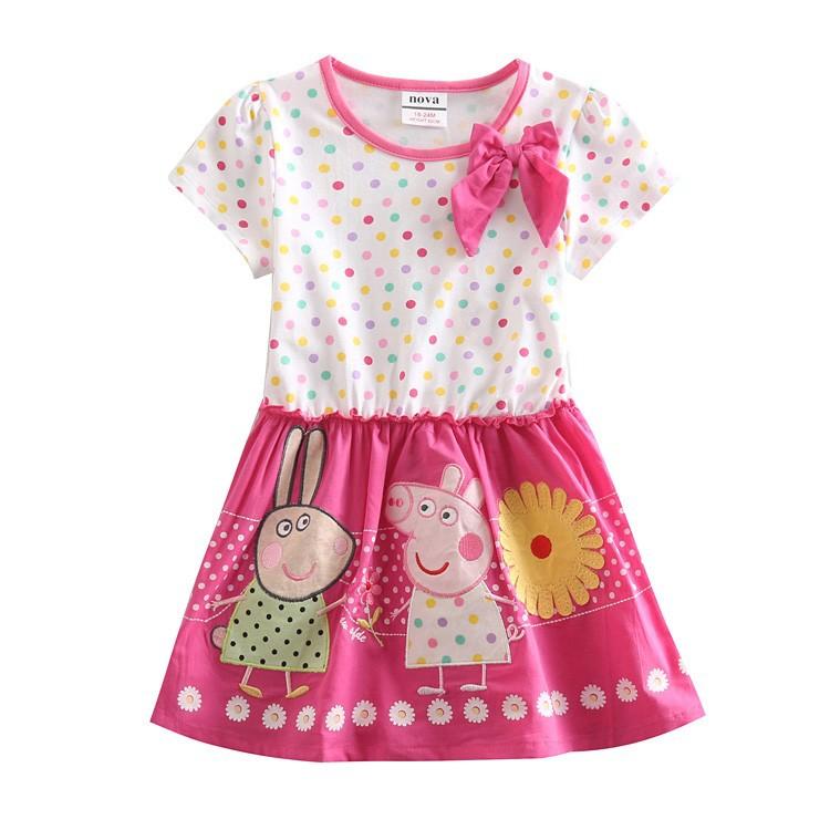 baby dresses girls cartoon children's clothes sleeveless polka dot nova princess frocks clothing girl dress - NOVA & NOVATX Factory Store store
