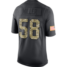 Men's Von Miller 58# Jerseys Adult Anthracite 2016 Salute to Service Embroidery Logos Free Shipping(China (Mainland))