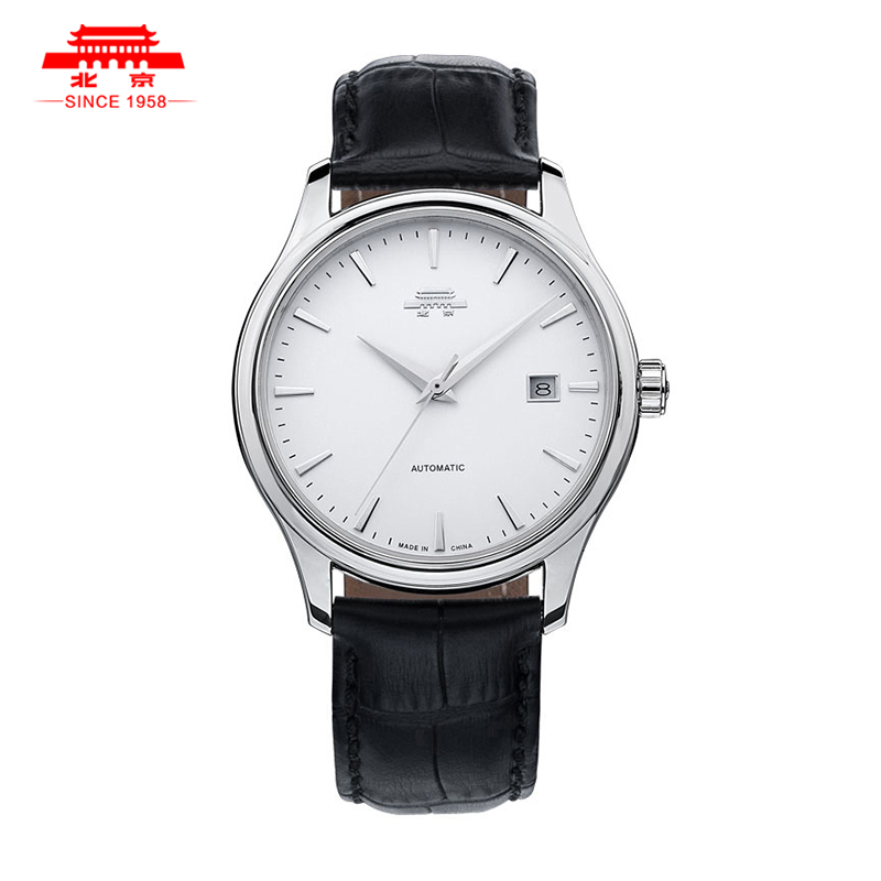 Beijing brand watches vintage 16 male fully-automatic mechanical watch waterproof genuine leather brief mens watch(China (Mainland))