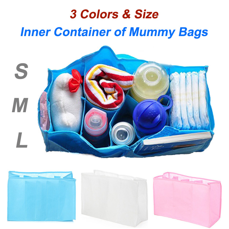 Baby Diaper Nappy Changing Storage Bags Inner Containers,Maternity Handbag Multi Liners Lining Divider 3 Colors S M L Sizes(China (Mainland))