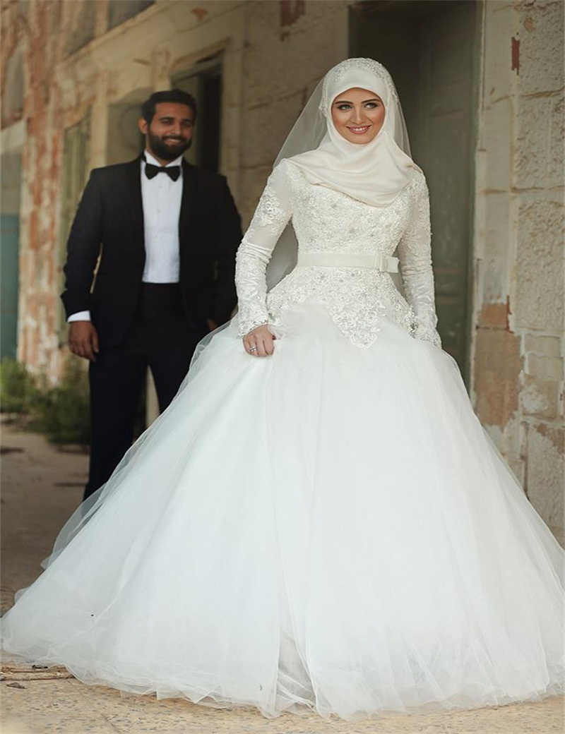 Wedding Dress In Dubai Of Buy Muslim Dubai Arab Long Sleeves Weddin