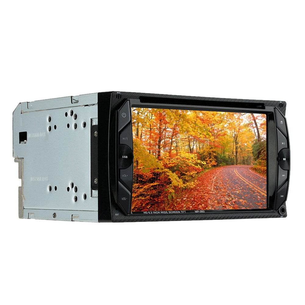 Universal 6.2inch 2 Din car Radio HD In Dash 2din Car DVD Player Bluetooth Touch Screen FM Autoradio multimidia DVD MP3/MP4/MP5(China (Mainland))