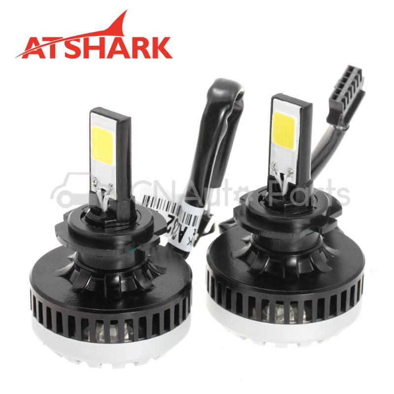 Atshark 64W 5600LM H7 LED Headlight Kit COB LED - Replaces Halogen &amp; HID-2 Pack<br><br>Aliexpress