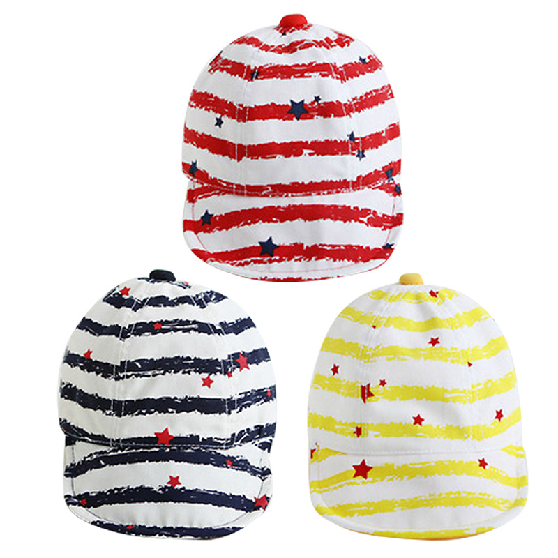 New Cute Kid Baby Boy Girl Baseball Cap Toddler Infant Hats Star Turn Cotton Baseball Beret Caps W1(China (Mainland))