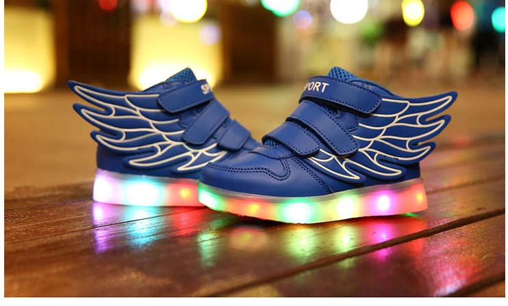 Boys Girls Led Light Wings Shoes for Children Fashion Kids Usb Charging Luminous Sneakers Autumn Winter Glowing Shoes Freeship<br><br>Aliexpress