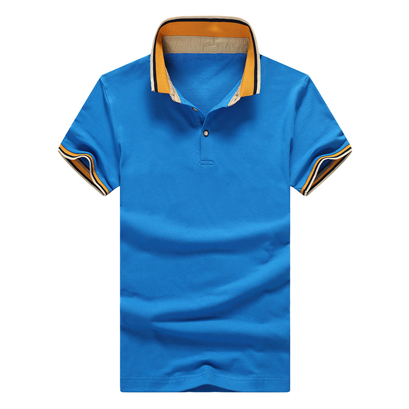 Hot Sale Men Short Sleeve POLO Shirts Fashion Sports Comfortable Breath Freely High Cotton Absorb Sweat POLO Clothing(China (Mainland))