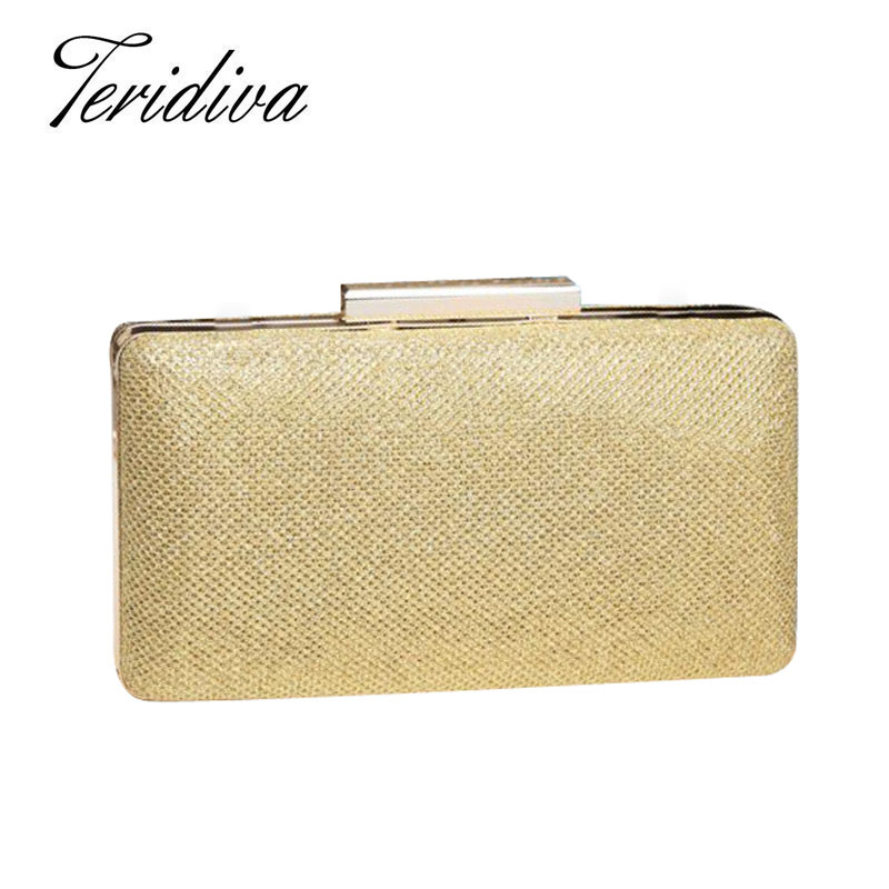 Awesome Womens Bronze Sequins Spangle Evening Clutch Handbags Party Purses