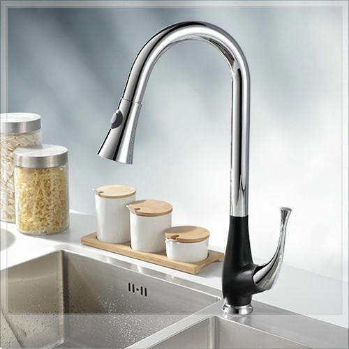 Patent Design Lead Solid Brass Single Lever Kitchen Sink Faucet with sprayer pop square<br><br>Aliexpress