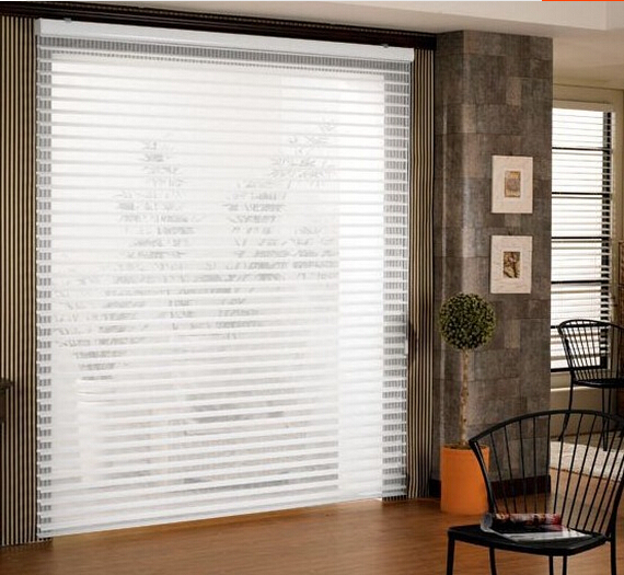 home decorative triple shade shangri-la polyester blind(China (Mainland))