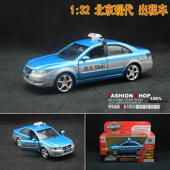 Beijing hyundai taxi acoustooptical taxi child alloy car model toy boxed