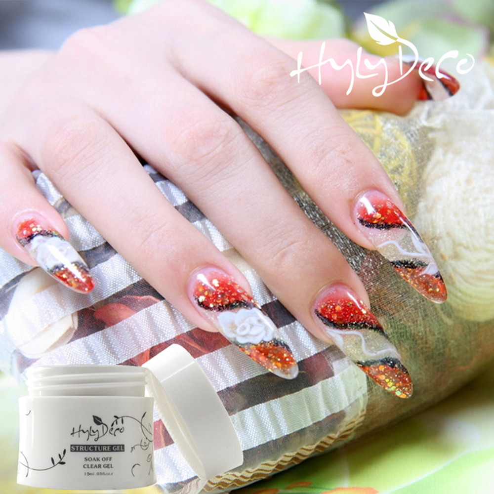 ICE hylydeco Mix 24pcs 15g Wholesale Price UV Gel Nail Nail Art Manicure Tips Glue UV Builder Gel Clear+Nude(China (Mainland))