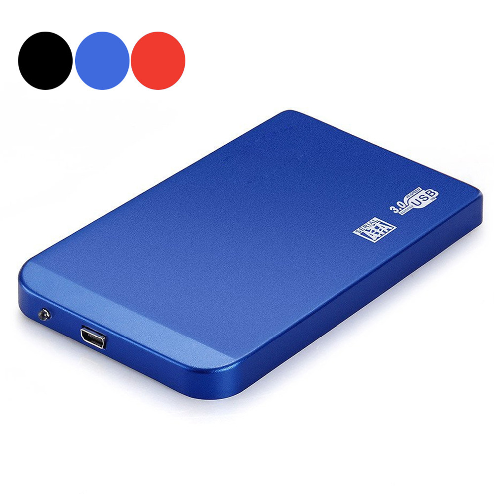 High Speed Portable 2.5 Inch SATA USB 3.0 Aluminum External Mobile Hard Drive Disk Case HDD Enclosure with Tracking Number(China (Mainland))