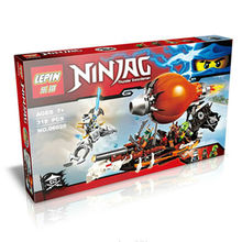 318pcs Anime Ninjagoed Minifigures Zeppelin Doubloon Clancee JAY Ninja Raid Zeppelin Weapon Building Blocks Compatible With LEGO