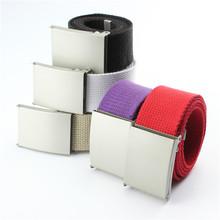 Casual Cotton Canvas Belt Cintos Plain Webbing Belt for Mens Boys Women Unisex Waist Belts Waistband Clothes Accessories