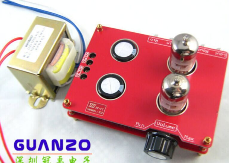Stereo Audio Amplifier Buffer 6N3 Tube Preamp AMP Matisse Kit with Transformer(China (Mainland))