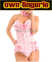 ruffle corset with bow accessory bustier for sexy woman party ruffle corset top w3040