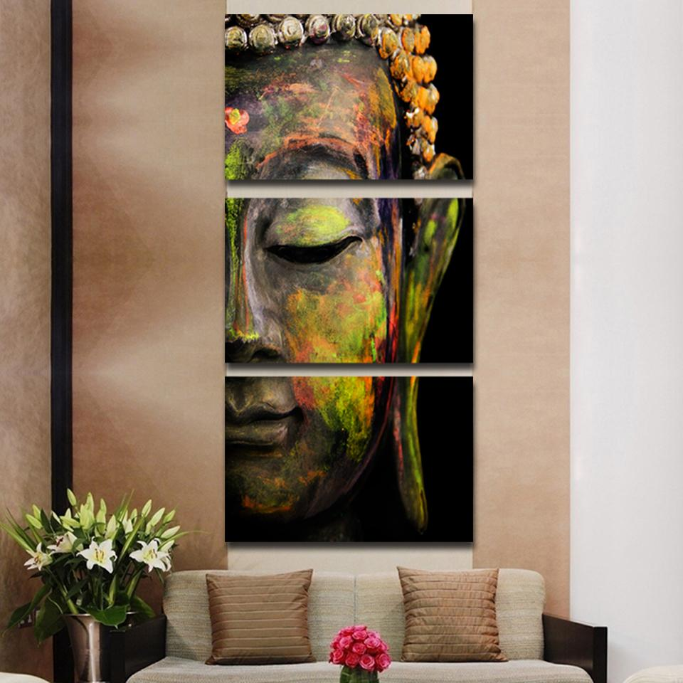 Buddha oil painting home decor for Home painting images