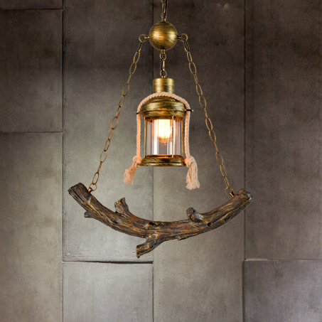 Nordic Industrial Tree Branch Pendant Lights Fixture American Country Retro Fish Droplight Home Indoor Lighting Restaurant Lamps(China (Mainland))