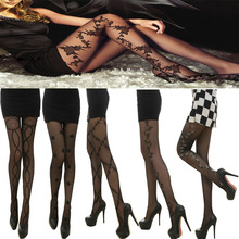 2016 VELSATIS brand long stockings flower women sexy stockings black colour 20d pattern pants nylons stocking