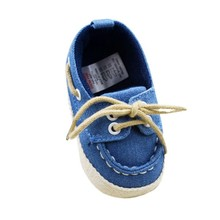 Baby Boy Girl Blue Sneakers Soft Bottom Crib Shoes Size Newborn to 18 Months  For Freeshipping