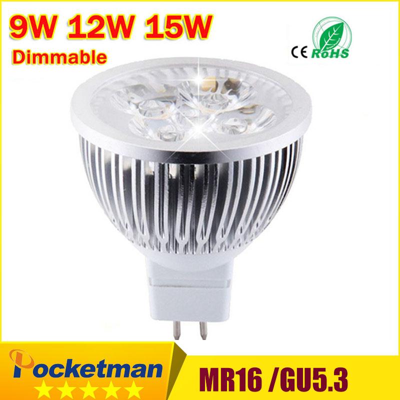 High lumen CREE MR16 - GU5.3 LED spot light lamp 12V 220V 110V 9W 12W 15W LED Spotlight Bulb Lamp GU 5.3 led bulb light(China (Mainland))