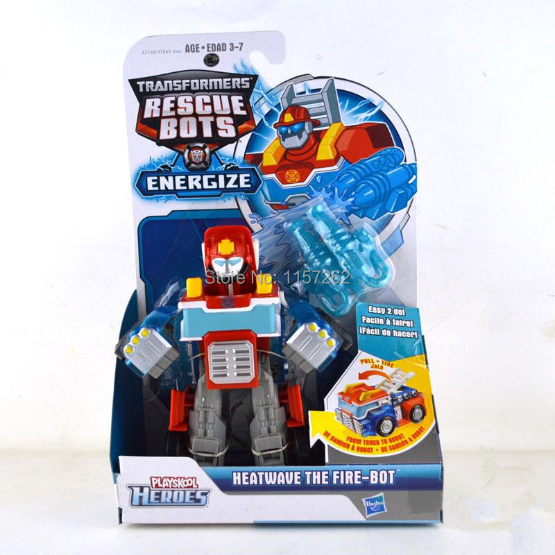 Original Brand Playskool Heroes Rescue Bots Energize Heatwave the Fire-Bot Transformation with retail box Gifts Toys For Boys(China (Mainland))
