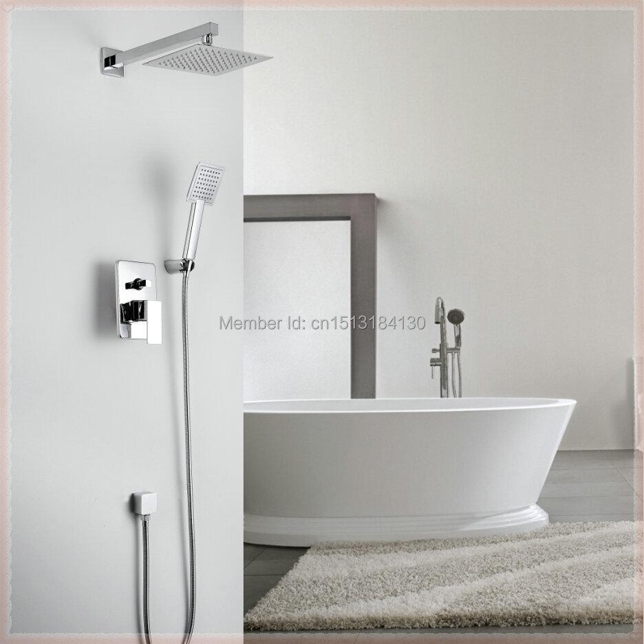 Kiarog Bathroom Shower Set Concealed Shower Faucet 200 Mm 8 Stainless Steel Shower Head Hand