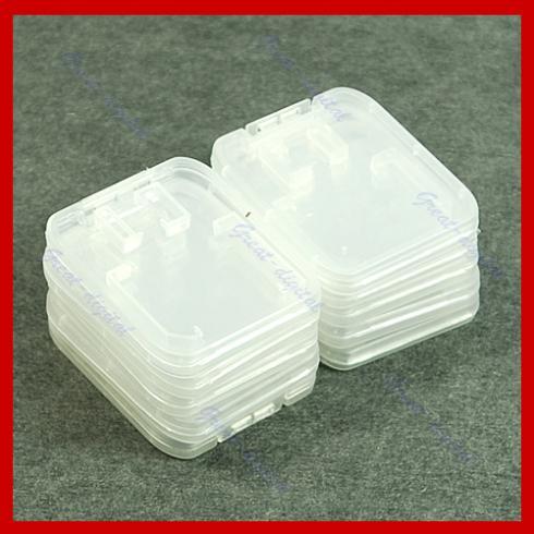 Free Shipping 10pcs TF Micro SD SDHC Memory Card Plastic Case White<br><br>Aliexpress