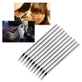 10pcs Surgical Steel Tatto Piercing Needles Medical Tattoo Needles For Navel Nose Lip Ear Piercing 14g