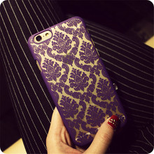 Чехлы для iPhone 7,7 plus, 4S, 5S, 6 s, 6 плюс Случае цветок Дамаск Винтаж Пейсли цветок Полые ПК Твердый Переплет Красочные Крышка Телефона(China (Mainland))