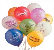 1000pcs custom logo balloon  advertising balloons print logo balloon customization logo balloons  1.5g(China (Mainland))