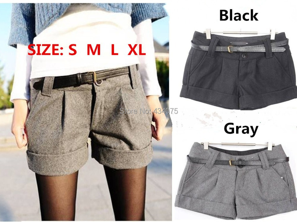 Women's shorts turn-up straight woolen bootcut short plus large big size casual shorts 2015 New CHIC!(China (Mainland))
