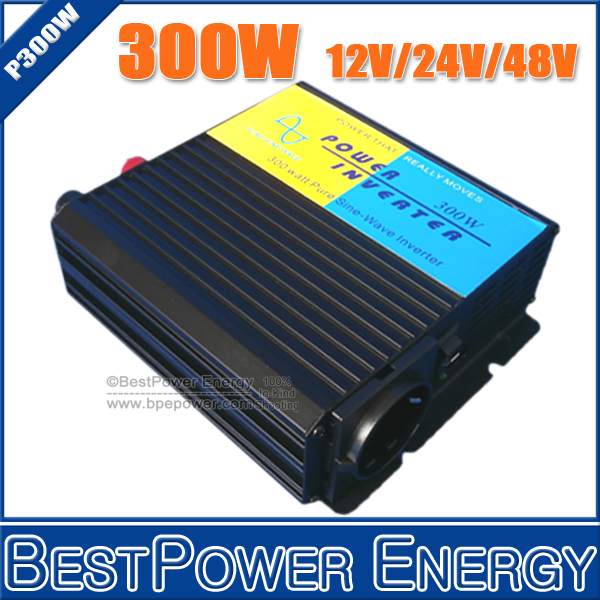 HOT SALE!! Input DC12V/24V/48V to AC110V/220V 300W Professional Pure Sine Wave DC to AC Power Inverter, Solar Inverter