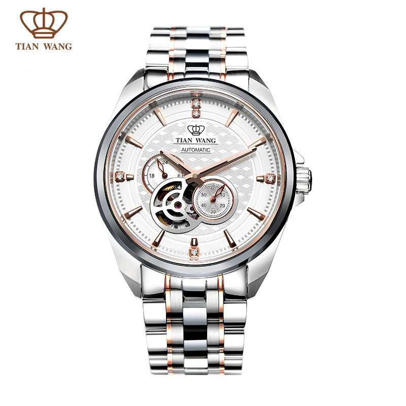 Tian Wang Brand Mens Watch full SS full automatic mechanical wristwatch GS5810TP/DD Rose gold color newly launched 2015