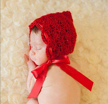 Cute Red Triangle cap toddler photo props Crochet Outfits Baby Hat Newborn Photography Props For Child Clothing and Accessories