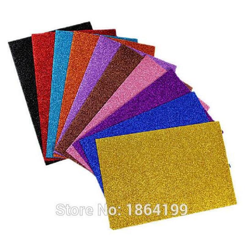 10pcs A4 colored EVA Sponge Glitters Foam Paper DIY toys Home Wall Decorations,diy Handmade Materials,paper craft(China (Mainland))