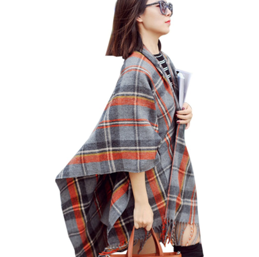 Fashion Design 2015 Lady Women Popular Wool Blanket Oversized Tartan Scarf Wrap Shawl Plaid Pashmina Cozy Checked - Shenzhen Sundah Tech Co., Ltd.(Craft & Gift Dept. store)