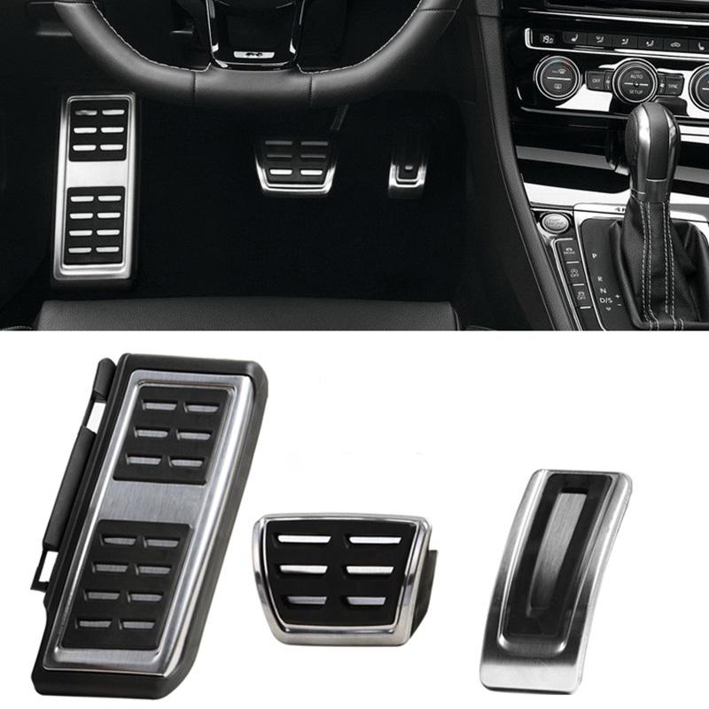 LHD Car Pedals Fit For VW Audi A3 8V S3 RS3 Sportback Seat Leon Rapid Octavia 5E 5F A7 Passat B8 Footrest Brake Pads Accessories(China (Mainland))