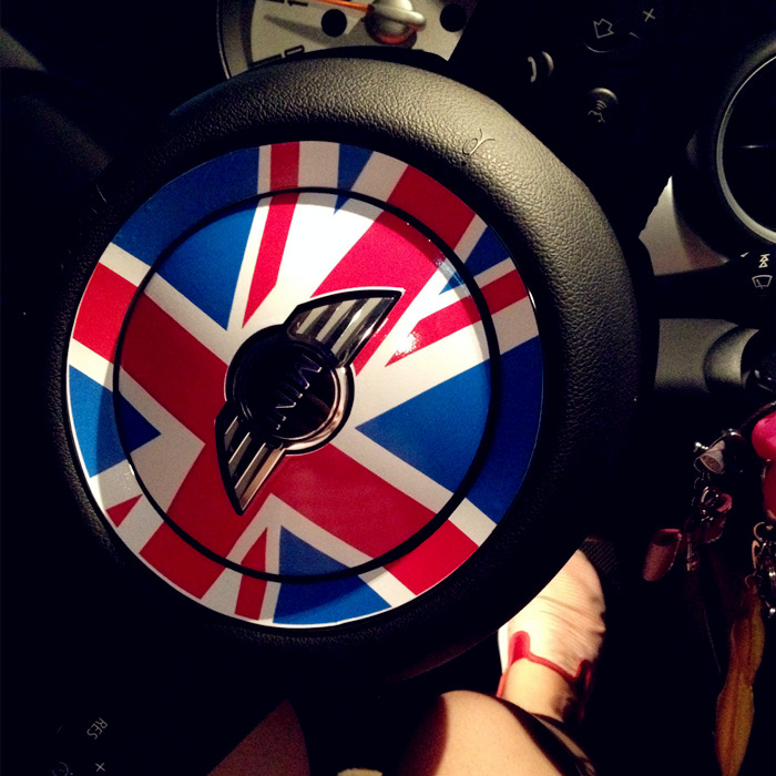 MINI Cooper Steering Wheel Sticker PVC Protect Jacket Sticker for One Clubman Countryman paceman union jack(China (Mainland))
