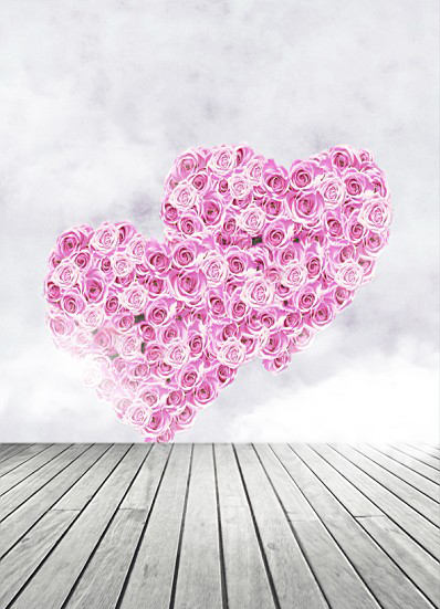 Фотография 600CM*300CM(20ft*10ft) Fundo Wooden Floor Rose Heart Love photography backdrop background for photo studio AY 3208
