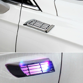 Car Air Intake Flow Vent Fender Side Cover Solar Decorative Outlet Taillight #957