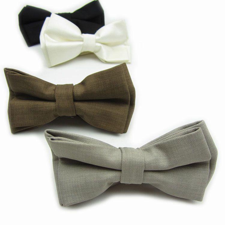 Взрослый свадебная ну вечеринку бизнес галстук-бабочку регулируемые розничные высокое качество мужская твердые боути галстуки галстук