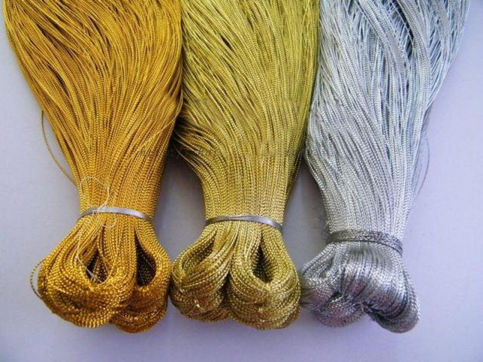 Free shipping DIY bag candy metallic yarn / Gold and silver thread 90m/lot