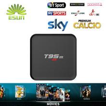 T95M S905 Súper IPTV Amlogic 1300 canales en vivo + 7000 Películas VOD europa Italia iptv IPTV Quad Core Tv box 2 GB/8 GB Medios jugador